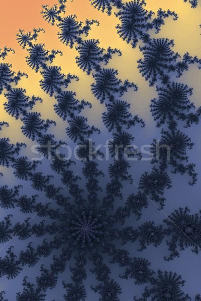 Fractal azul laranja cores edifício projeto Foto stock © hlehnerer
