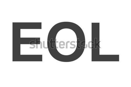 конец жизни аббревиатура акроним используемый технологий Сток-фото © hlehnerer