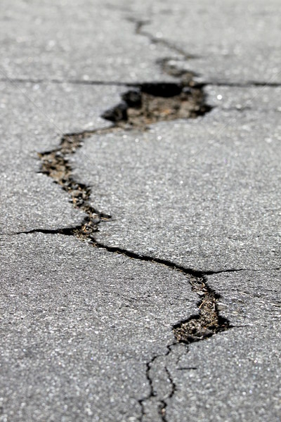 crack in the street Stock photo © hlehnerer