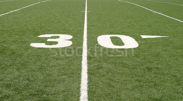 Football Field Thirty Stock photo © hlehnerer