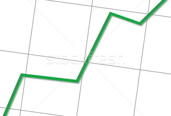 統計値 アップ 白 グラフ 緑 行 ストックフォト © hlehnerer