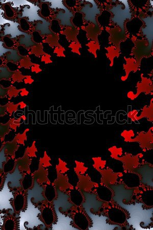 Fractal Red Black White Stock photo © hlehnerer