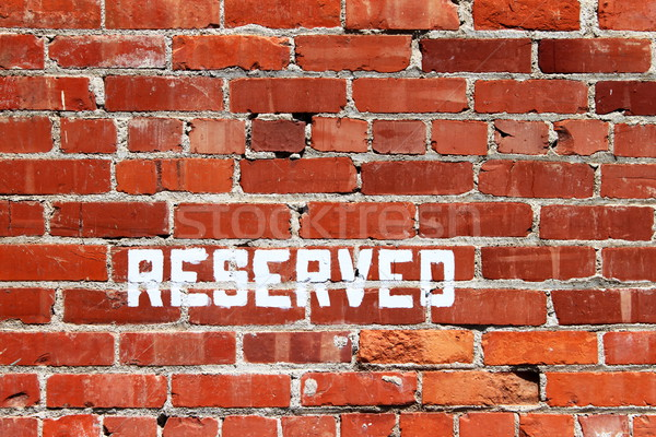 Stock photo: Brick Wall Reserved