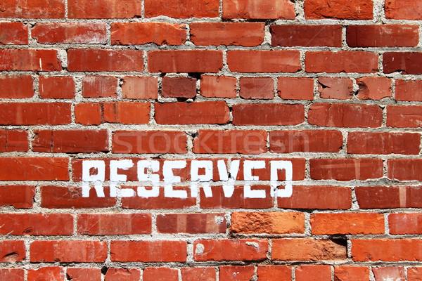 Brick Wall Reserved Stock photo © hlehnerer
