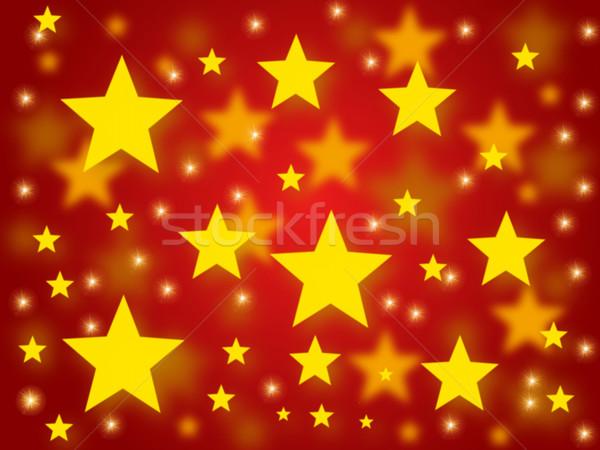 Navidad estrellas dorado rojo textura resumen Foto stock © hlehnerer