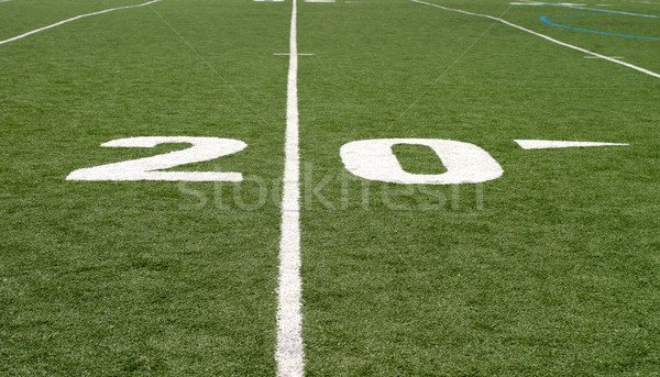 Football Field Twenty Stock photo © hlehnerer
