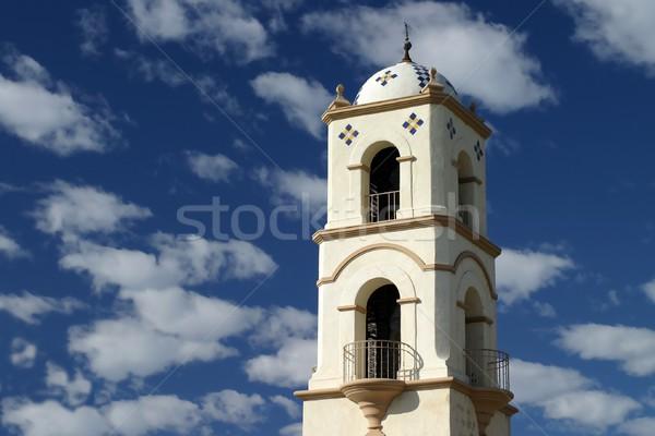 Torre oficina de correos agradable cielo azul nubes cielo Foto stock © hlehnerer