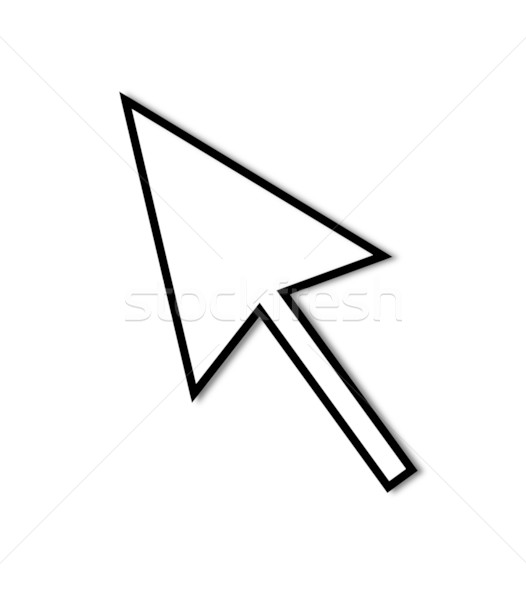 Cursor Arrow Mouse Black Line Stock photo © hlehnerer