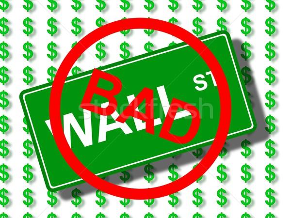 Wall Street slechte groene teken dollar iconen Stockfoto © hlehnerer
