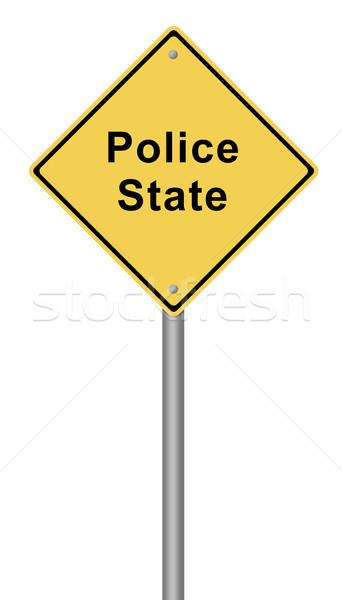 Foto stock: Polícia · amarelo · texto · segurança · assinar