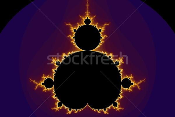 Fractal cores roxo dourado amarelo azul Foto stock © hlehnerer