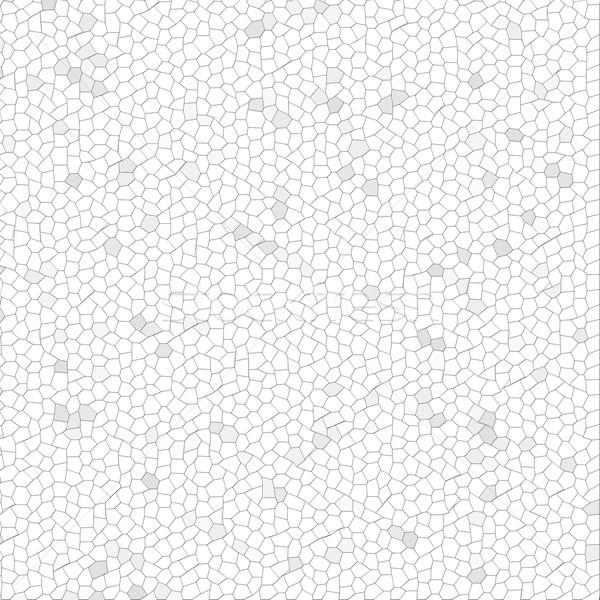 Fehér mozaik szürke építkezés fal háttér Stock fotó © hlehnerer
