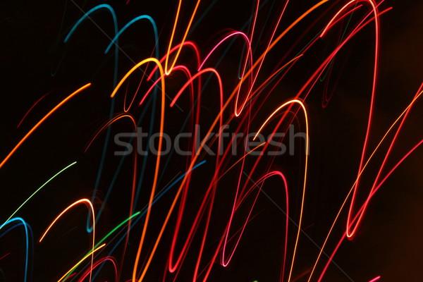 Stockfoto: Abstract · beweging · lichten · christmas · licht · wazig