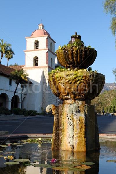 Santa Barbara Mission Fountain Stock photo © hlehnerer