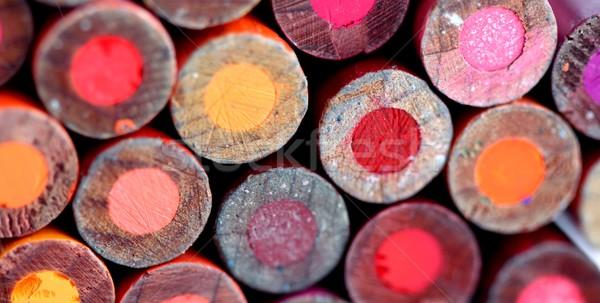 Matite indietro rosso diverso colore Foto d'archivio © hlehnerer
