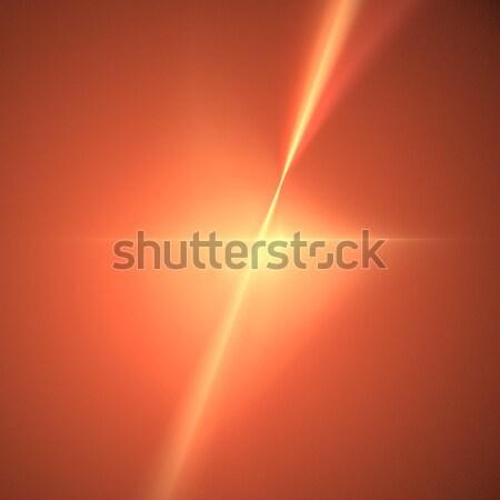 Fractal oranje star trillend kleur vorm Stockfoto © hlehnerer