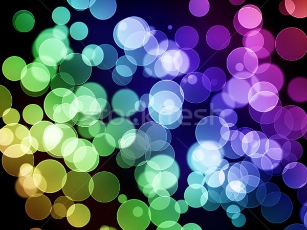 Bokeh abstract kleur lichten textuur partij Stockfoto © hlehnerer