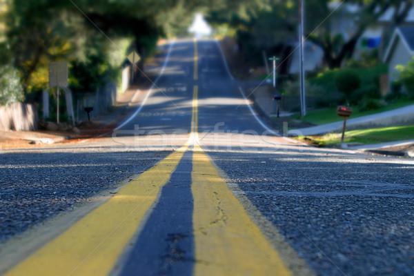 Kleur weg stad straat Stockfoto © hlehnerer