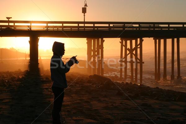 Photographer At Sunset Stock photo © hlehnerer