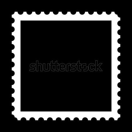 Bélyeg tér copy space fekete háttér posta Stock fotó © hlehnerer