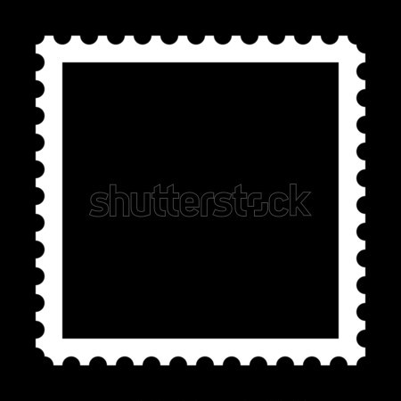 Stempel vierkante exemplaar ruimte zwarte achtergrond mail Stockfoto © hlehnerer