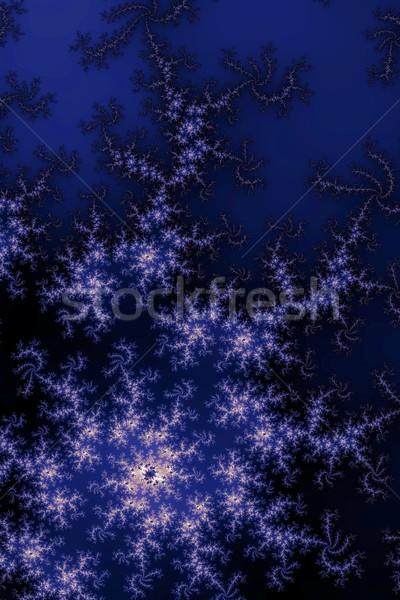 Donkere Blauw fractal verschillend abstract ontwerp Stockfoto © hlehnerer