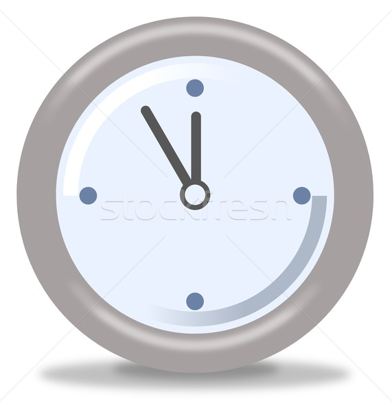 Relógio cinco doze prata azul branco Foto stock © hlehnerer