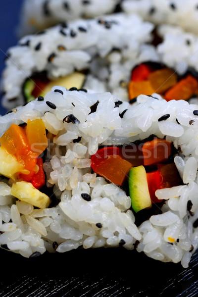 Kalifornia zsemle szusi egészséges népszerű japán étel Stock fotó © hlehnerer