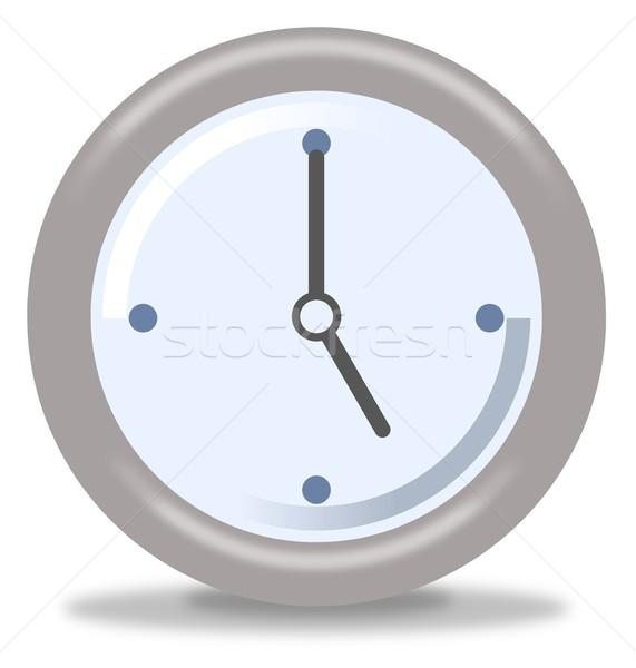 óra öt ezüst kék fehér mutat Stock fotó © hlehnerer