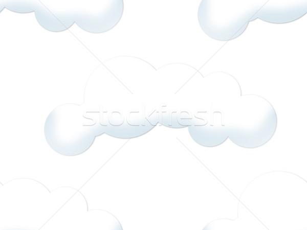 Felhő végtelenített fény fehér égbolt terv Stock fotó © hlehnerer