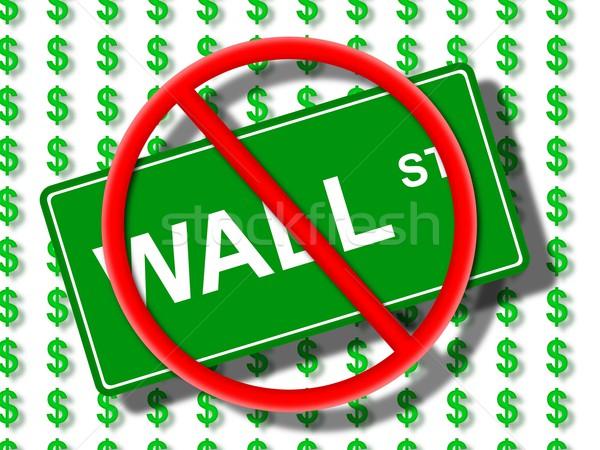 Wall Street geen groene teken dollar iconen Stockfoto © hlehnerer