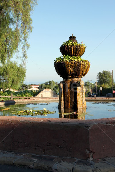 Stock photo: Santa Barbara Mission Fountain