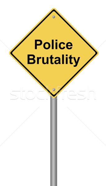 Politie beestachtigheid Geel tekst communicatie Stockfoto © hlehnerer