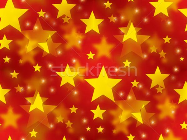 Sin costura Navidad estrellas dorado rojo textura Foto stock © hlehnerer