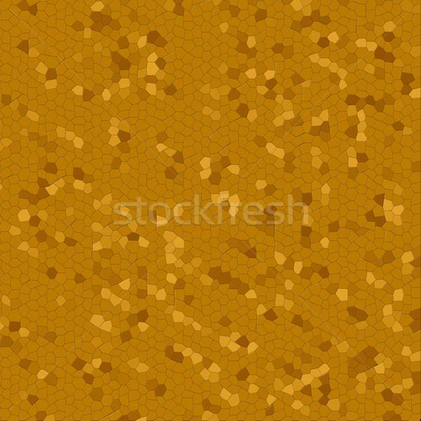 Oscuro dorado mosaico variación color pared Foto stock © hlehnerer