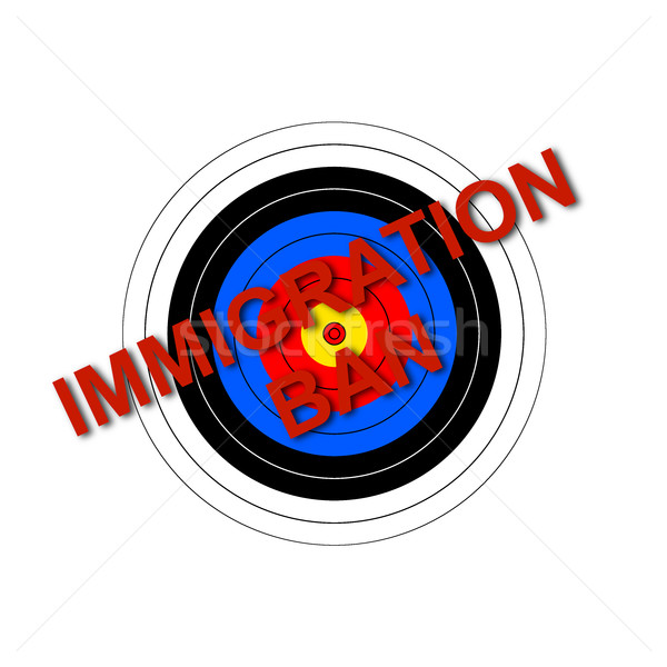 Target Immigration Ban Stock photo © hlehnerer