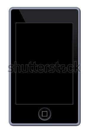 Mp3 telefonu gracz ilustracja biały działalności Zdjęcia stock © hlehnerer