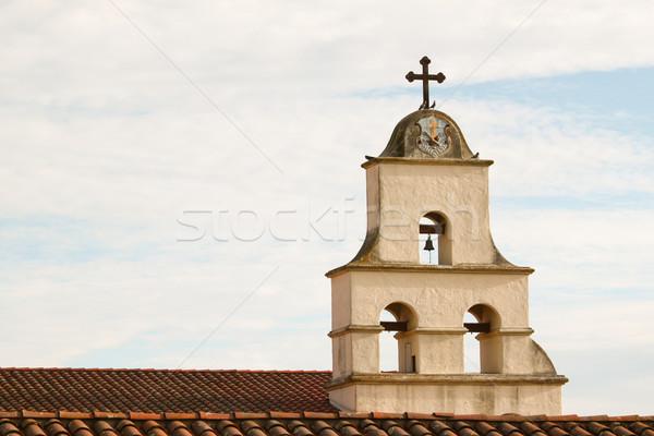 Mikulás küldetés spanyol történelmi Kalifornia nő Stock fotó © hlehnerer