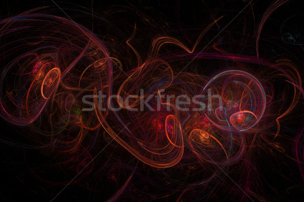 赤 フラクタル 抽象的な 黒 活気のある 色 ストックフォト © hlehnerer