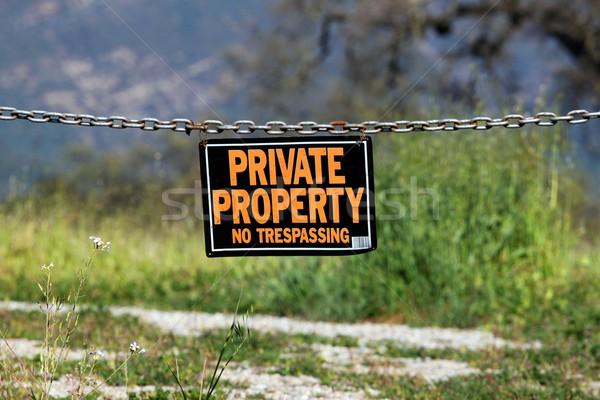 private property Stock photo © hlehnerer