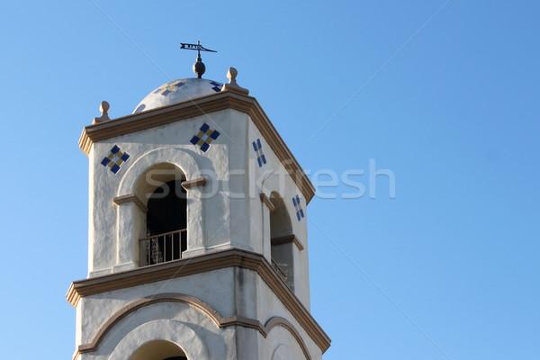 Oficina de correos torre campana cielo azul cielo oficina Foto stock © hlehnerer