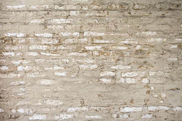 Pared edad pared de ladrillo arena color piedras Foto stock © hlehnerer