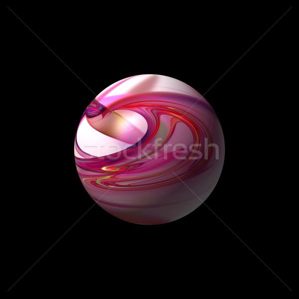Resumen rojo mundo color fractal negro Foto stock © hlehnerer