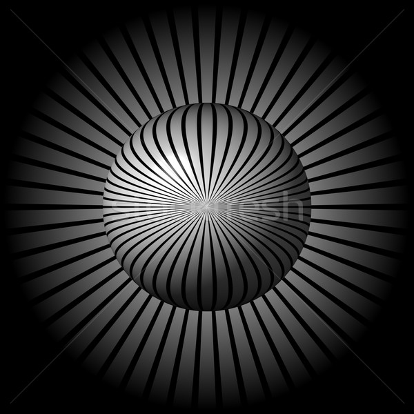 Black and White Star Globe Stock photo © hlehnerer