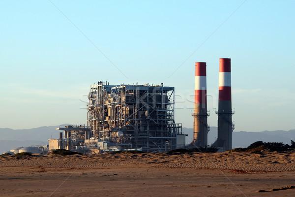 Elektromos erőmű földgáz erő üzlet égbolt természet Stock fotó © hlehnerer