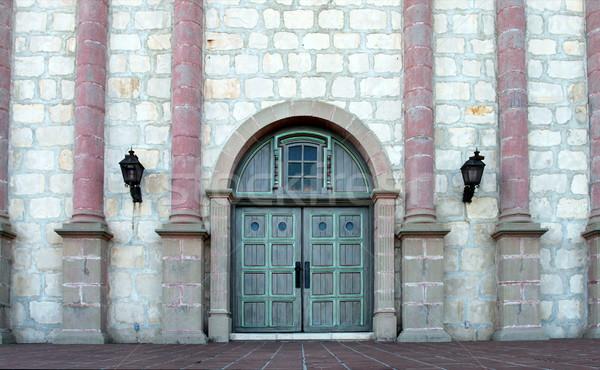 サンタクロース ミッション 入り口 スペイン語 歴史的 カリフォルニア ストックフォト © hlehnerer