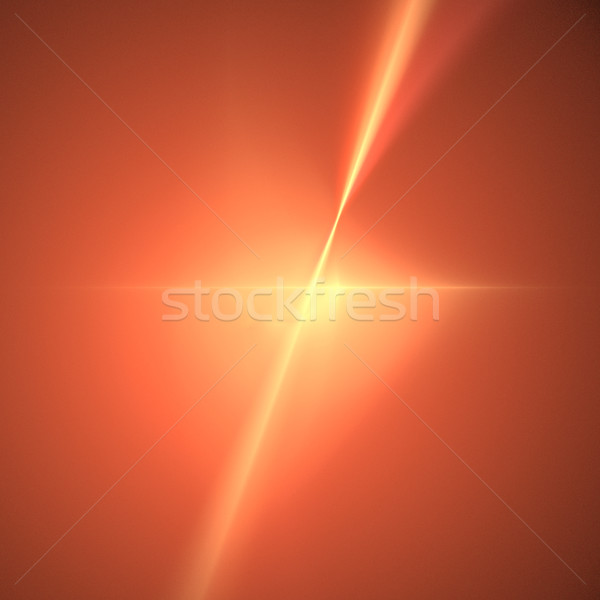 Fractal Orange Star Stock photo © hlehnerer