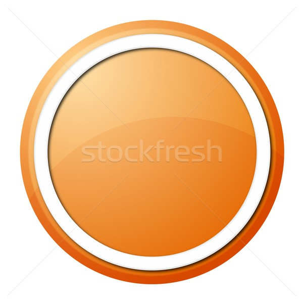 Stock photo: orange button