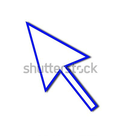 Cursor Arrow Mouse Blue Line Stock photo © hlehnerer