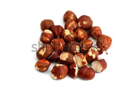 Hazelnoten bruin witte vruchten achtergrond Stockfoto © hlehnerer